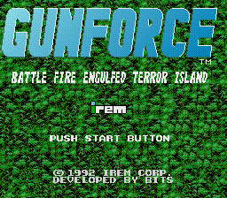 Gunforce - Battle Fire Engulfed Terror Island