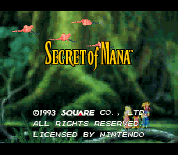 Secret of Mana™<br/> ©1993 Square Co., LTD.<br/> All Rights Reserved.<br/> Licensed by Nintendo