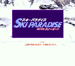 Ski Paradise with Snowboard