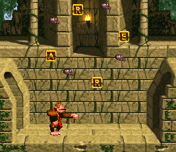 Donkey Kong playing a mini game.