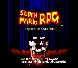 Super Mario RPG™<br/> Legend of the Seven Stars<br/> ©1996 Nintendo / Square<br/> Character ©Nintendo, ©Square
