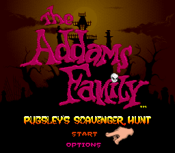 The Addams Family - Pugsley's Scavenger Hunt