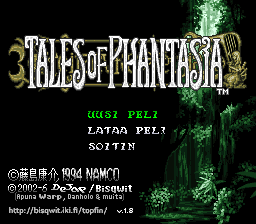 Tales of Phantasia Finnish