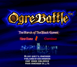Densetsu no Ogre Battle - The March of the Black Queen