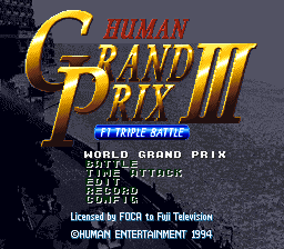 Human Grand Prix 3 - F1 Triple Battle