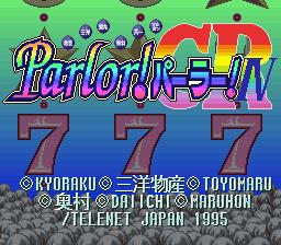 Kyoraku Sanyo Toyomaru Okumura Daiichi Maruhon Parlor! Parlor! 4 CR - Jikki Shimyureeshon Geemu