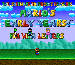 Mario's Early Years - Fun With Letters
