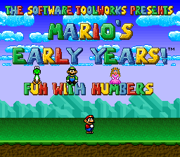 Mario's Early Years - Fun With Numbers