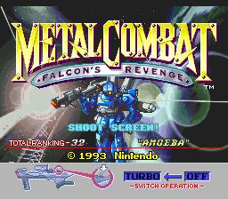 Metal Combat - Falcon's Revenge