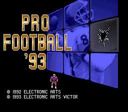 Pro Football '93