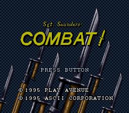 Sargeant Saunder's Combat!