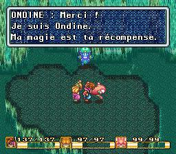 Ondine: Merci! Je suis Ondine. Ma magie est ta récompense.