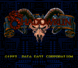 Shadowrun Title Screen
