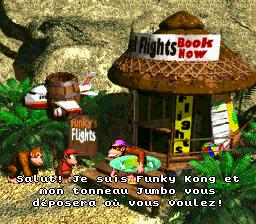Funky Kong: Salut! Je suis Funky Kong et man tonneau Jumbo vous déposera où vous voulez!
