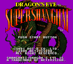 Super Shanghai - Dragon's Eye