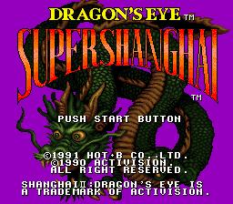 Super Shanghai - Dragon's Eye