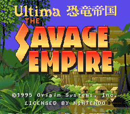 Ultima Kyoryu Teikoku - The Savage Empire