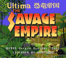 Ultima Kyoryu Teikoku - The Savage Empire