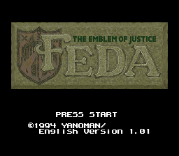 Feda - The Emblem of Justice English