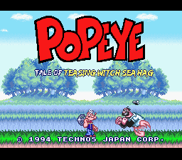 Popeye - Tale of Teasing Witch Sea Hag English