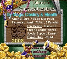 Taloon's Great Adventure English